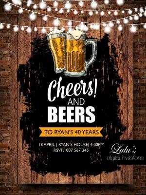 cheers and beers invitationadults
