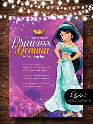 Princess Jasmin invitation