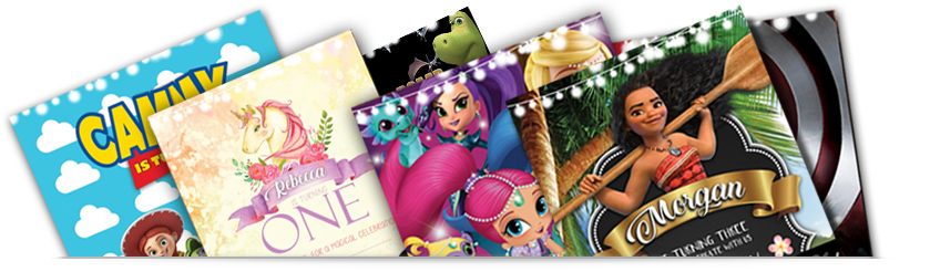 kids invitation collection banner