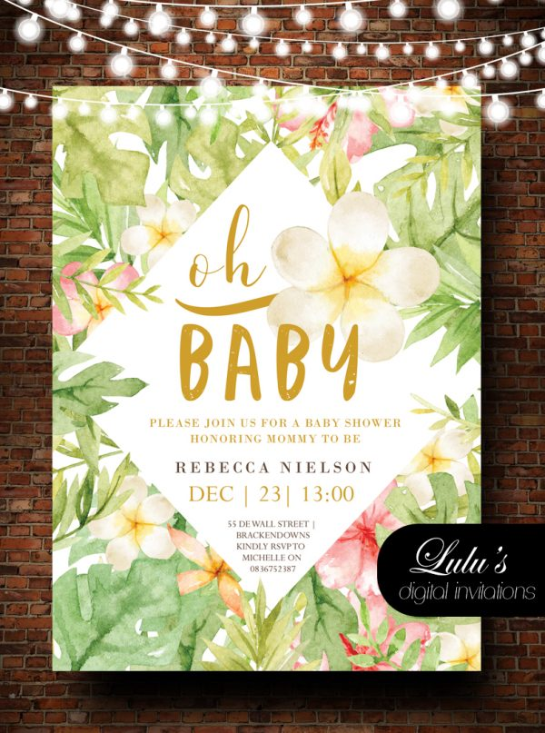 oh baby baby shower invitation