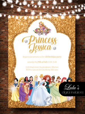 Princess Gold Invitation