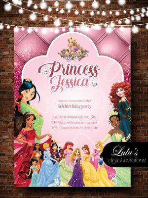 Princess Pink Invitation