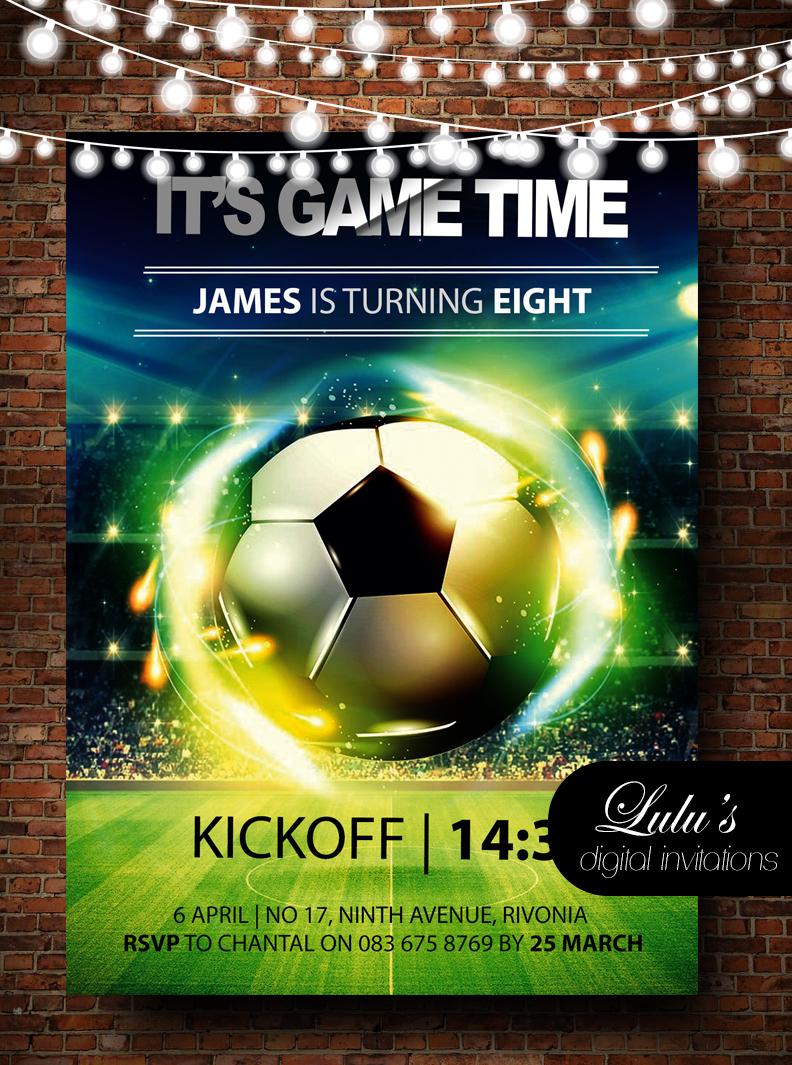 Soccer Invitation