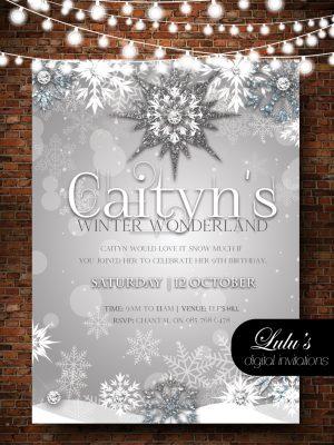 winter wonderlan invitation nvitation for kids